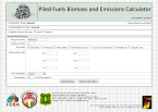 Biomass and Emissions Calculator