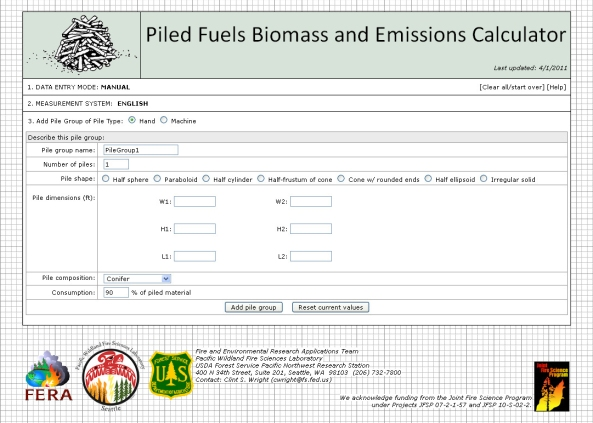 Biomass and Emissions Calculator