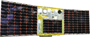UNIversity FORmation Mission 1--microsatellite designed by Hokkaido University for wildfire management (photo:  Koji Nakau)