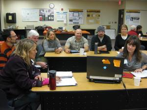 Breakout group at the October 2014 CFFDRS Summit in Fairbanks