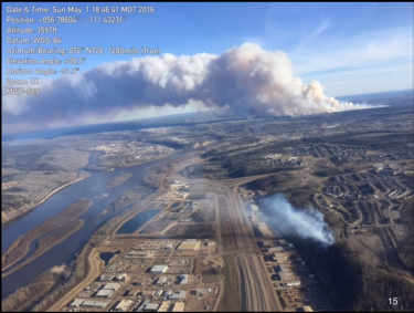 Fires on both sides of Ft. McMurray May 1, 2016